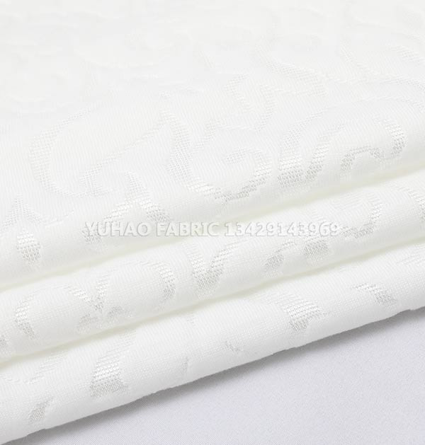 Pure White Soft Ordinary knitted jacquard