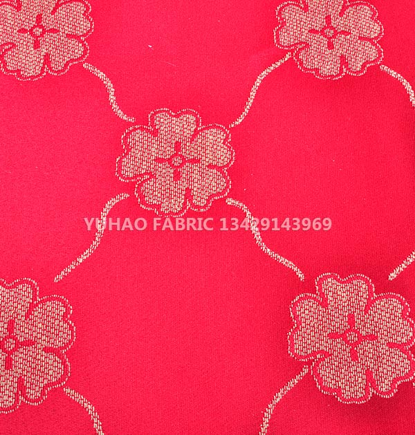 Red Cotton polyester woven fabric
