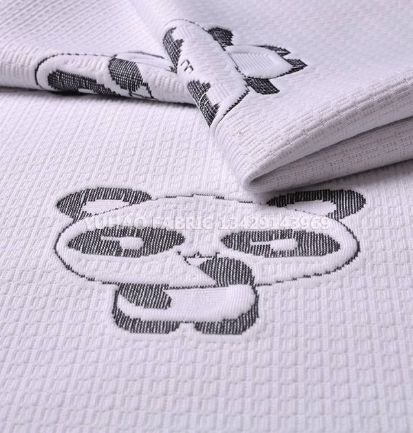 Panda pattern knitted jacquard fabric