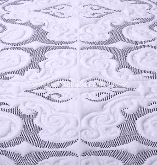 White pattern knitted jacquard fabric