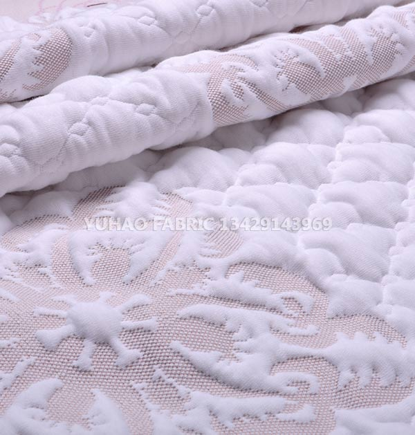 Knitted jacquard fabric thickened