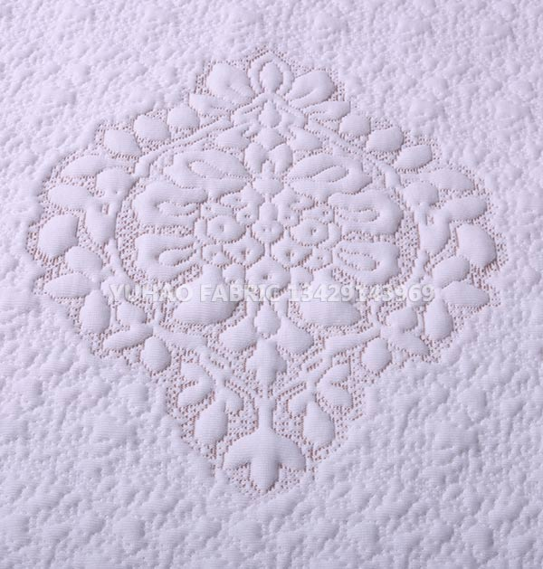White background pattern knitted jacquard fabric for sale