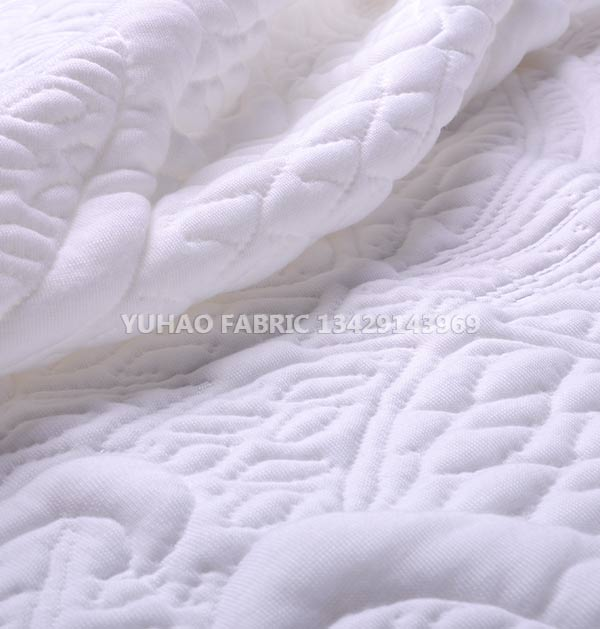 Pure white breathable knitted jacquard fabric