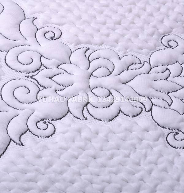 Anti-mildew and antibacterial knitted jacquard fabric