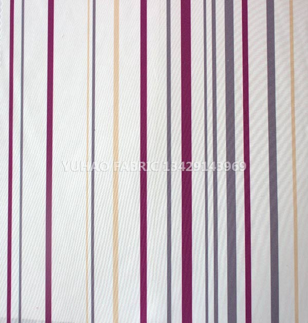 brushed printed fabric-stripe