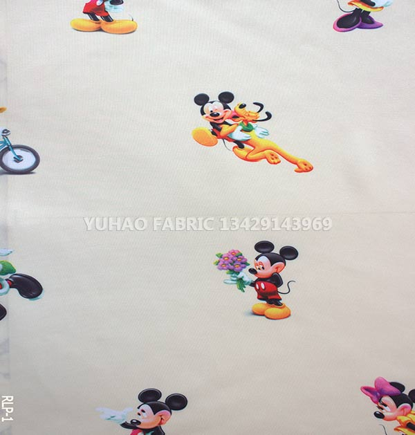 brushed printed fabric-RLP-1