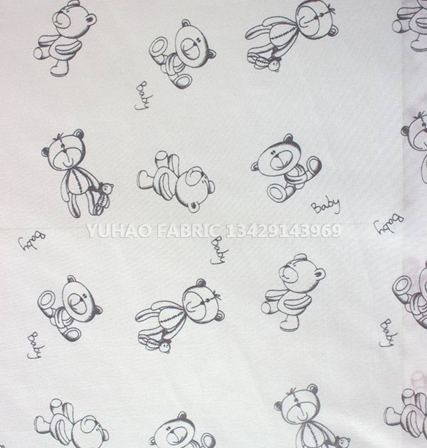 brushed printed fabric- doll pattern