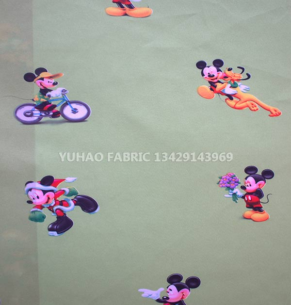 brushed printed fabric 215