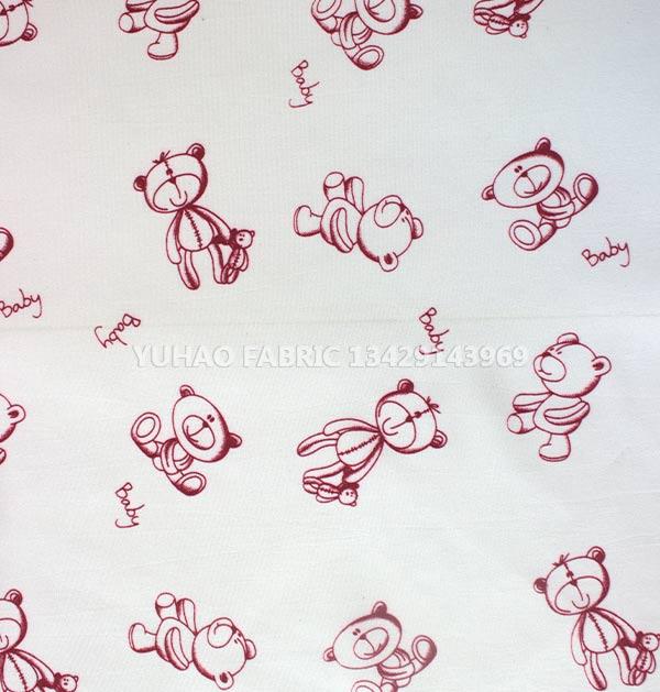 Lovely Bear Printed brushed printed fabric