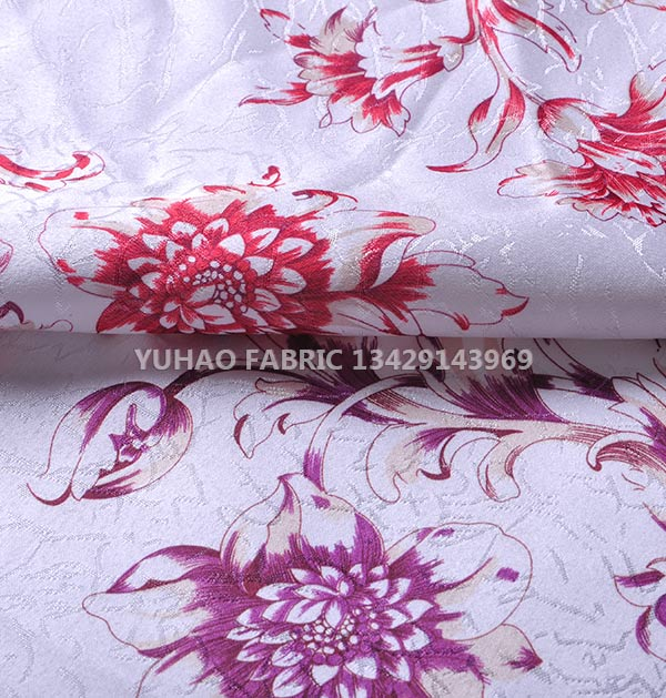 jacquard printed fabric-100% polyester